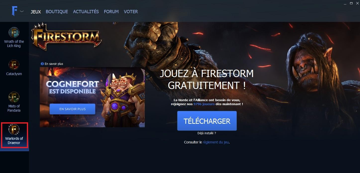 firestorm launcher gratuit